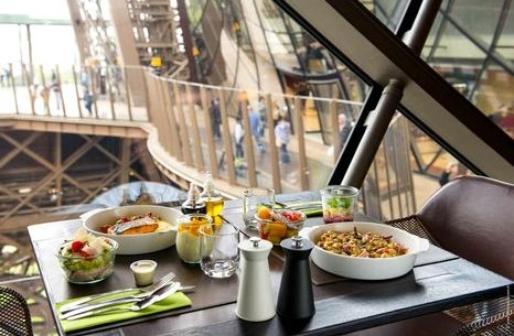 Dinner on the first floor of the Eiffel Tower Restaurant 58 Tour